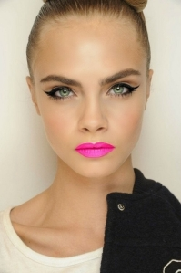 Love the pink lip